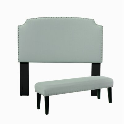 Almeida Upholstered Panel Headboard And Bench by Darby Home Co