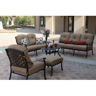 Lenahan Deep Seating Group With Cushions by Alcott Hill Discount