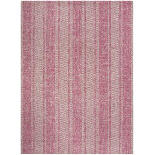 Myers Light Gray/Fuchsia Indoor/Outdoor Area Rug