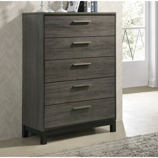 Mandy Wood 5 Drawer Standard Chest