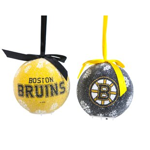2 Piece NHL LED Boxed Ball Ornament Set by Team Sports America