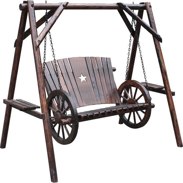 Awesome Wagon Wheel Porch Swing Wayfair Unemploymentrelief Wooden Chair Designs For Living Room Unemploymentrelieforg