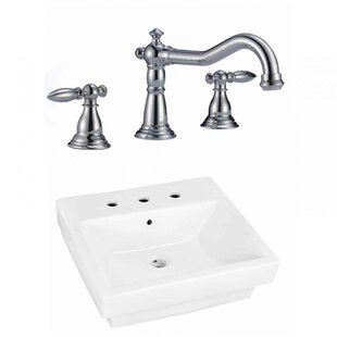 Top Reviews Ceramic Rectangular Bathroom Sink with Faucet and Overflow ByAmerican Imaginations