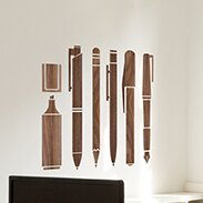 office deco. Office Deco Transfer Wooden Pen Wall Decal L