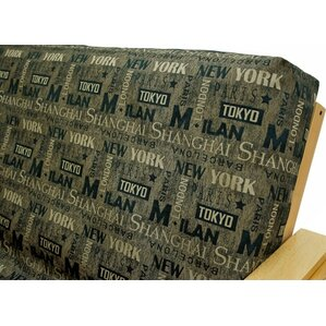 Municipal Sepia Box Cushion Futon Slipcover ..
