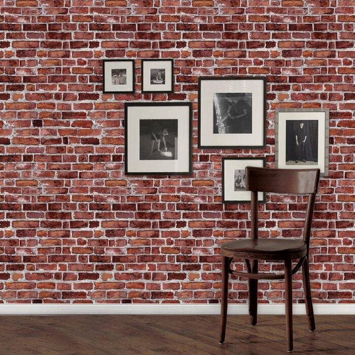 Brick Fine 108 L X 24 W Peel And Stick Wallpaper Panel