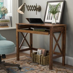 Thelen Solid Wood Writing Desk by Charlton Home Modern
