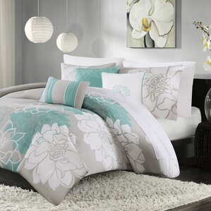 broadwell 6 piece print reversible duvet cover set