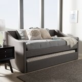 Cadena Twin Daybed with Trundle by Charlton Home®