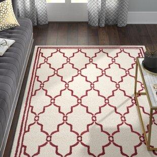 Wason Ivory/Red Indoor/Outdoor Area Rug