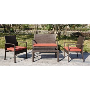 La Crescenta 4 Piece Lounge Seating Group with Cushion