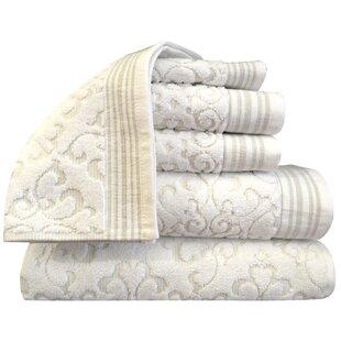 Vandiver 6 Piece Turkish Cotton Towel Set