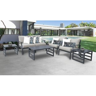Benner Outdoor 7 Piece Sectional Seating Group with Cushions