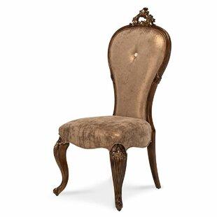 Platine de Royale Lt Espresso Side Chair by Michael Amini  Jayne Seymour Living