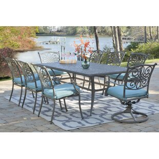 Yorba 9 Piece Dining Set with Cushion
