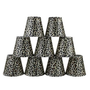 5 Leopard Empire Lamp Shade with Clip-on (Set of 9)