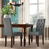 Lunenburg Padded Fabric Upholstered Dining Chair (Set of 2) by Charlton Home®