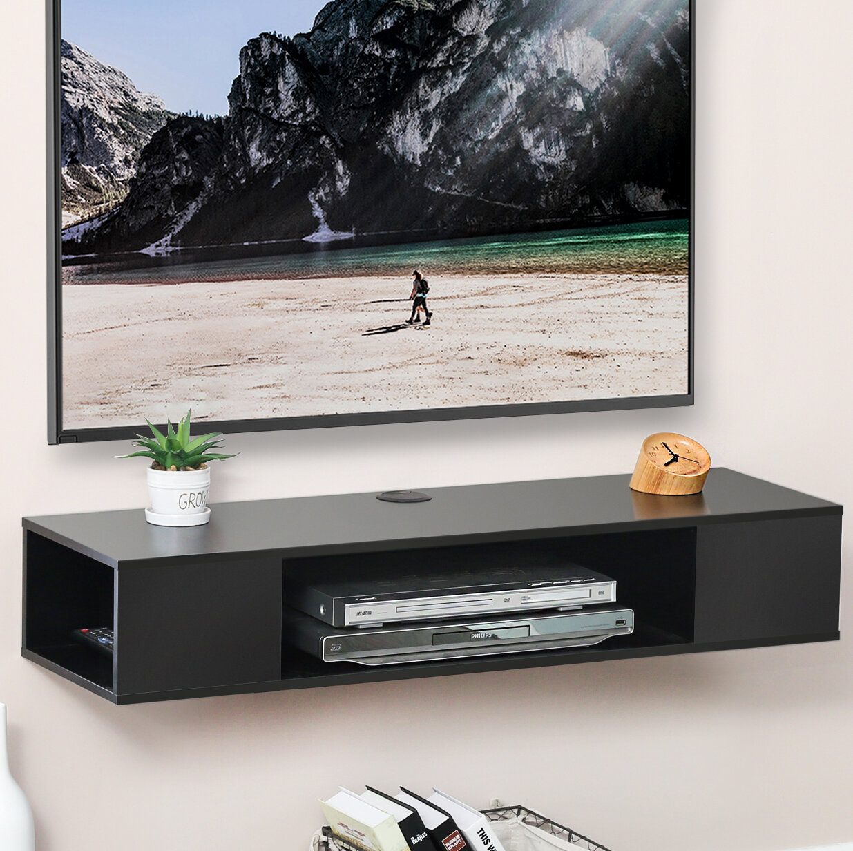 Shelf Floating Tv Stand Wall Mounted