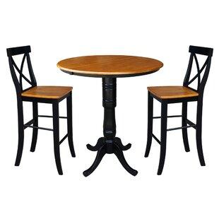 LePage Extendable 3 Piece Pub Table Set