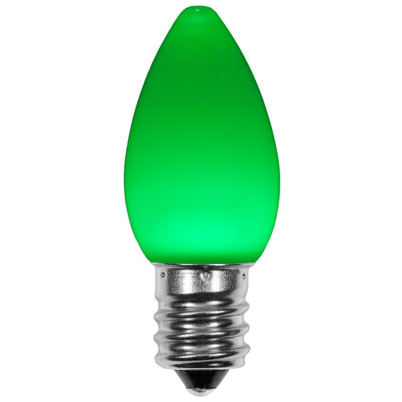 74028 120w Green E12 Candelabra Led Light Bulb
