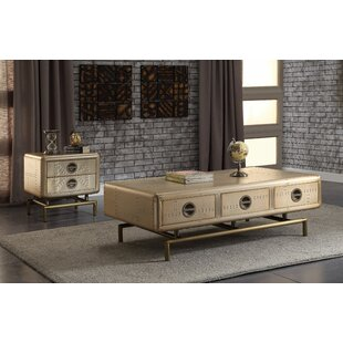 Malaki 2 Piece Coffee Table Set by 17 Stories