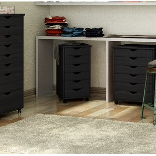 6-Drawer Roll Cart Vertical Filing Cabinet