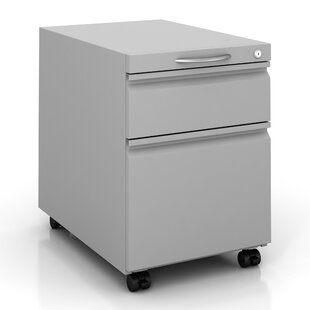 Pedestal 2-Drawer Mobile Vertical Filing Cabinet