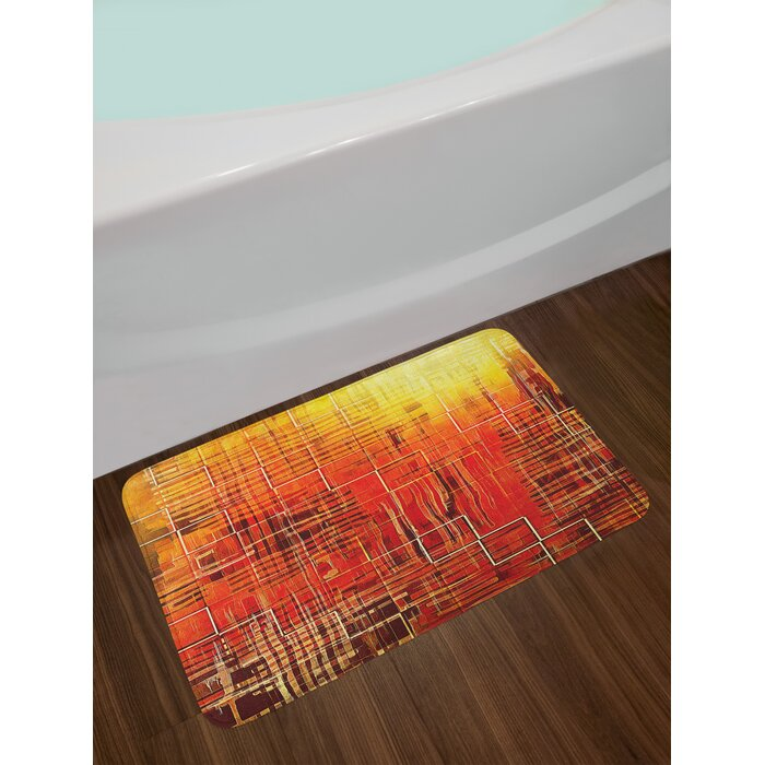 Burnt Orange Bath Rug