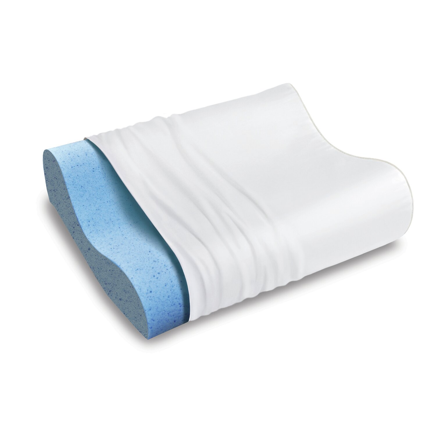 Sleep Innovations Inc Gel Memory Foam Overlay Standard Contour