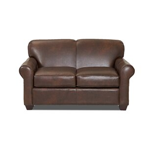 Jennifer Leather Loveseat by Wayfair Custom Upholstery™ 2019 Coupon