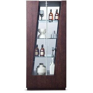camron lighted curio cabinet