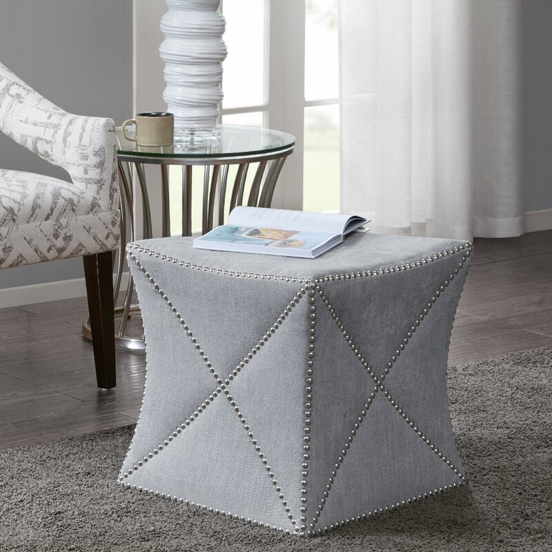 Tyrone Cube Ottoman By Alcott Hill Inexpensive Ottomans