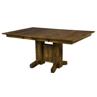 Ridenhour Solid Wood Dining Table Loon Peak
