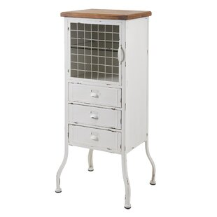 Metal 3 Drawer 1 Door Accent Cabinet by August Grove