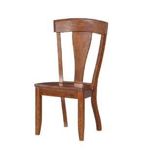 Bracamonte Solid Wood Dining Chair (Set of 2) Canora Grey