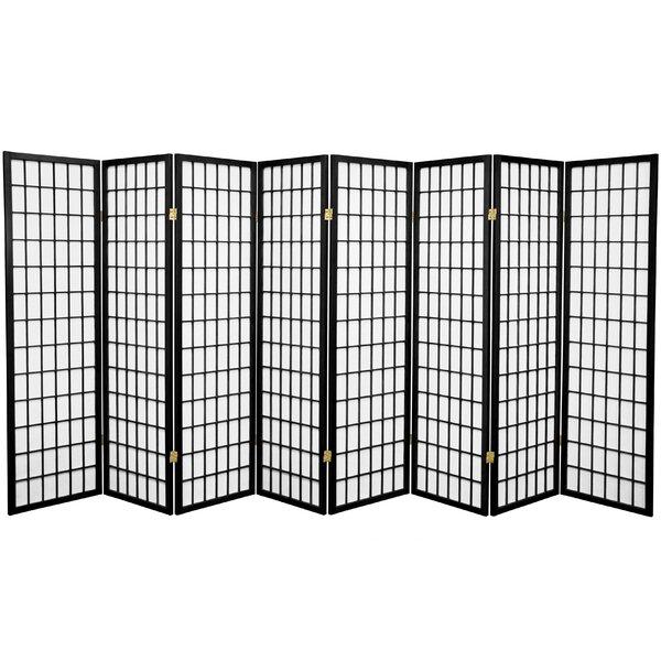 World Menagerie Wilmont 136 W X 58 75 H 8 Panel Room Divider Wayfair
