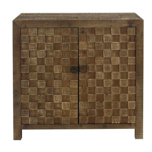 Chryses Rustic Checkered 2 Door Accent Cabinet by Bloomsbury Market