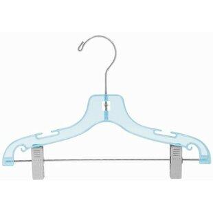 Children's Plastic Pant/Skirt Nursery Hanger with Clips (Set of 25) ByOnly Hangers Inc.