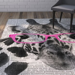 Reviews Balcom Giraffe in Glasses Area Rug By Wrought Studio