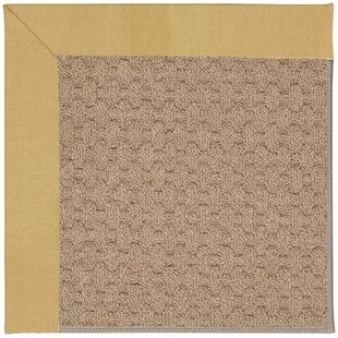 Lisle Machine Tufted Wheatfield/Brown Indoor/Outdoor Area Rug