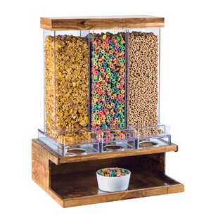 DeBary 332 Oz. Triple Canister Cereal Dispenser