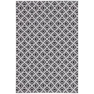Jaipur Living Tanith Geometric Light Gray/Black Indoor/Outdoor Area Rug