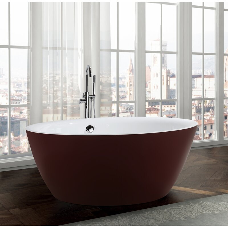 "Pescara 59.1"" x 59.1"" Freestanding Soaking Bathtub"