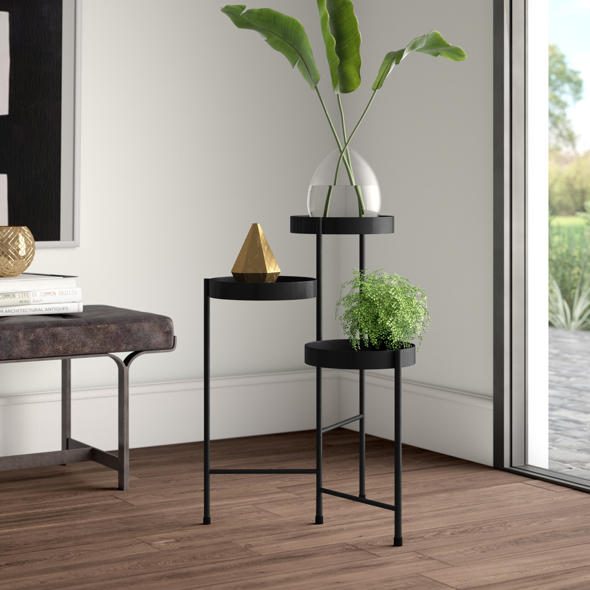 Metal Tiered Plant Stands Tables You Ll Love In 2021 Wayfair