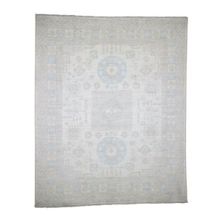 Read Reviews One-of-a-Kind Bagby Khotan Hand-Knotted 8'1 x 9'10 Wool Beige/White Area Rug By Isabelline