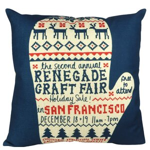 Christmas Sweater Glove San Francisco Throw Pillow