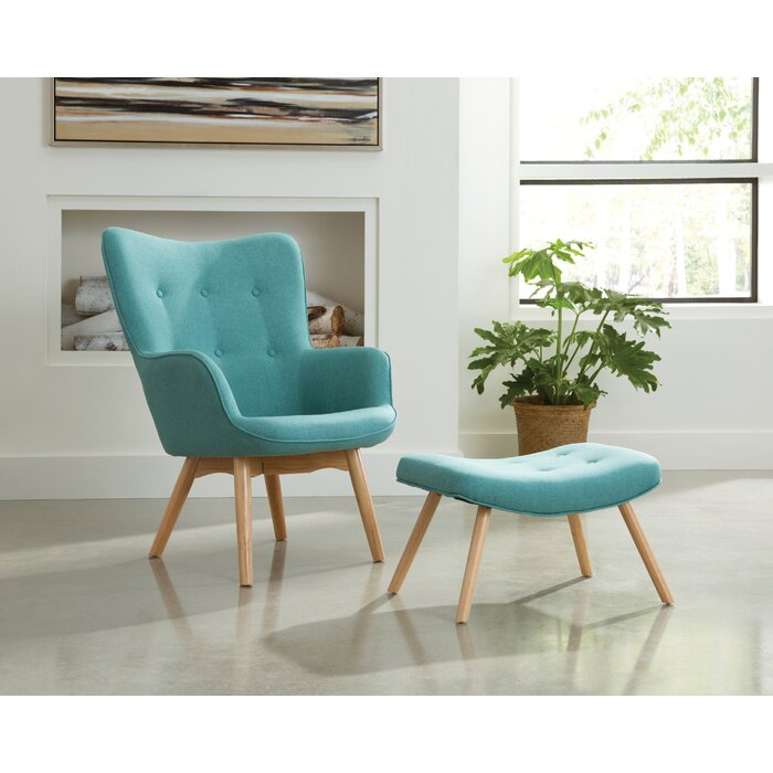 Bello Mid Century Modern Lounge Chair And Ottoman