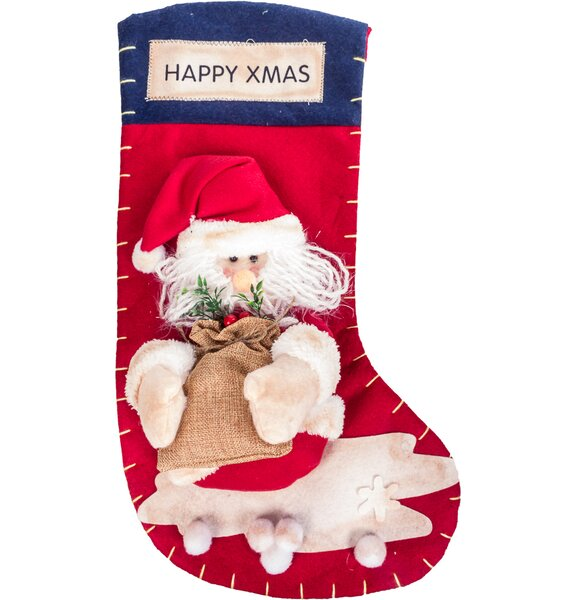 imperial home high end large 3d classic christmas stocking wayfair - Large Christmas Stockings