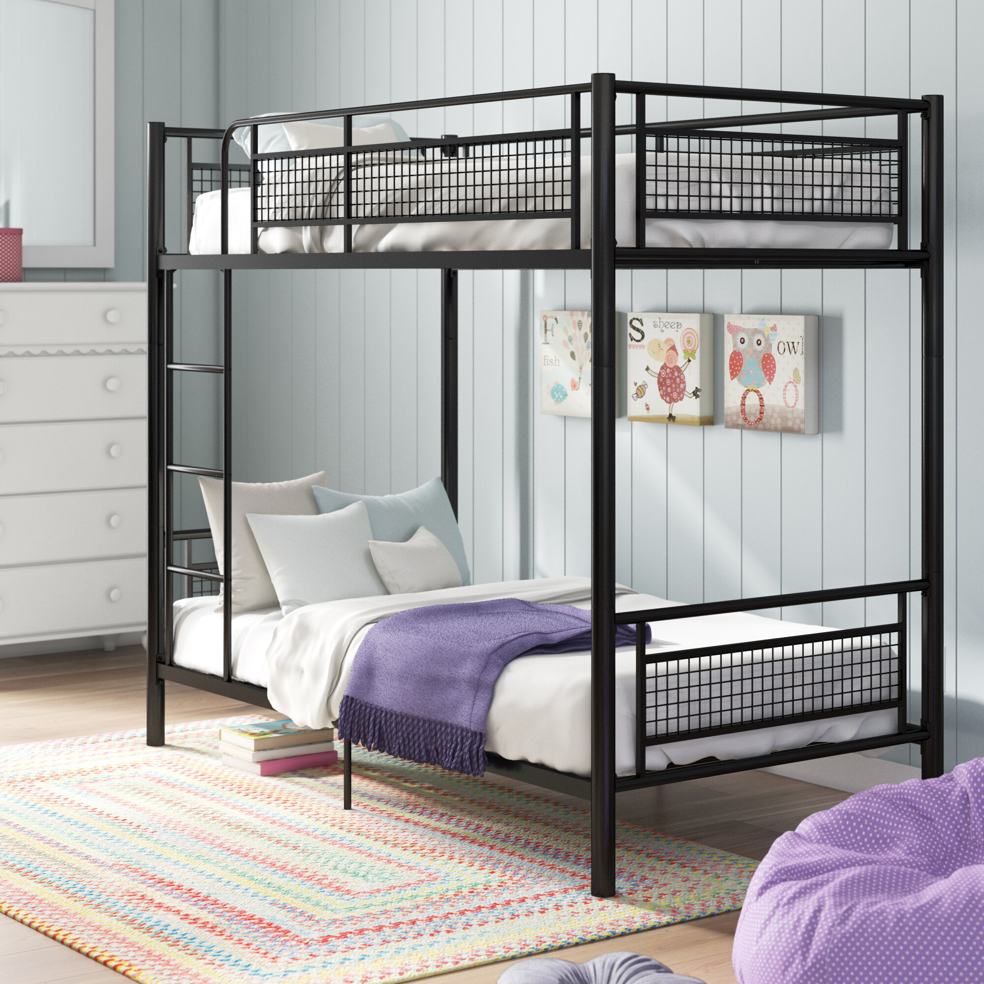Picture of: Isabelle Max Jordin Metal Twin Over Twin Bunk Bed Reviews