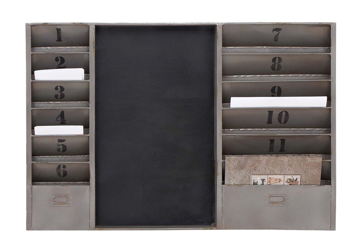 """brea 36"""" x 24"""" x 2"""" industrial mail sorter chalkboard & reviews"""